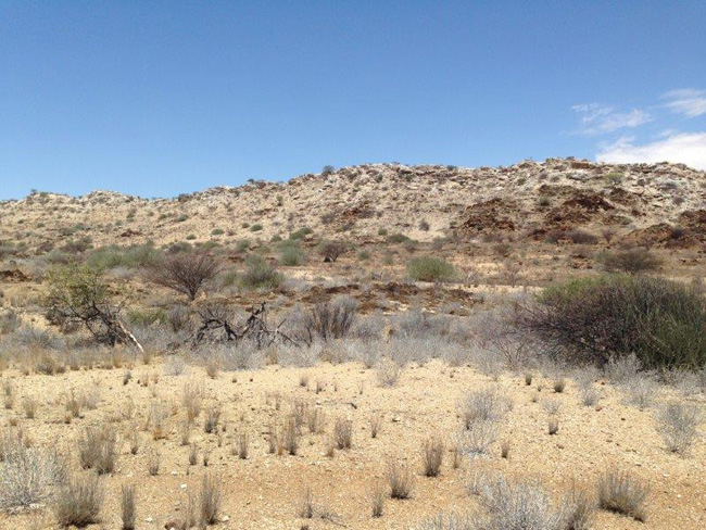 Outcropping formation at Area 51 Graphite Project